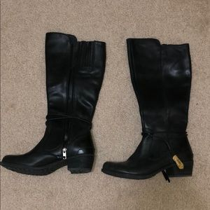 UGG black leather boots BRAND NEW (without tags)